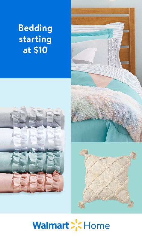 Sleeping smarter means enjoying quality and stylish bedding essentials at great prices. At Walmart, you'll find everything you need to prep for college with cozy sheets, pillows, and so much more—for less. #WalmartHome