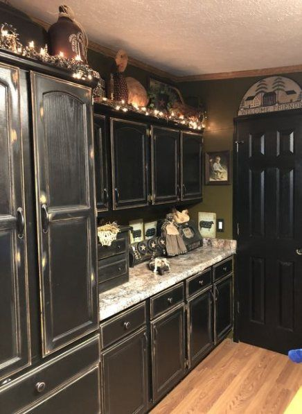 Distressed Kitchen Cabinets, Black Distressed Cabinets Pictures