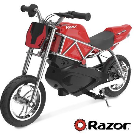 Razor Rsf350 24v Electric Sport Motor Bike Red Black For Ages 8 And Up Walmart Com Electric Dirt Bike Street Bikes Custom Bikes