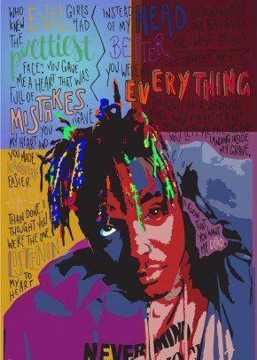 juice wrld posters rapper pop art