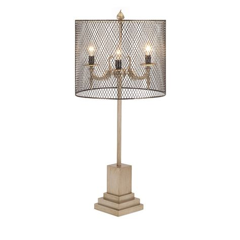 Table Lamp with Wire Shade