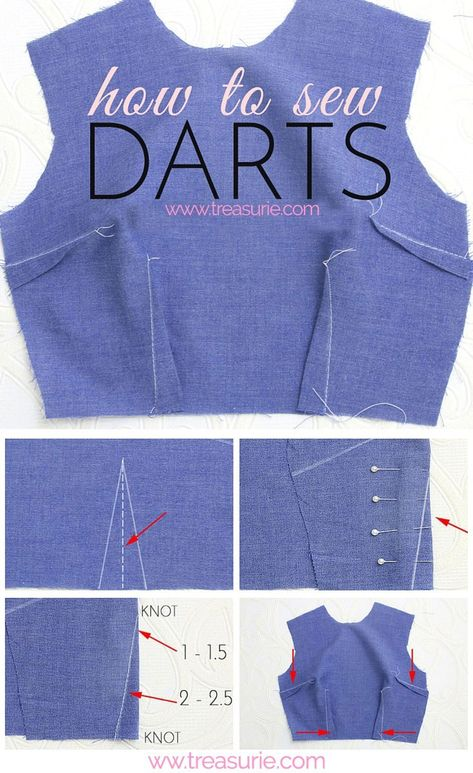 Sewing darts give shape to your clothing and bag sewing projects. … Sewing darts give shape to your