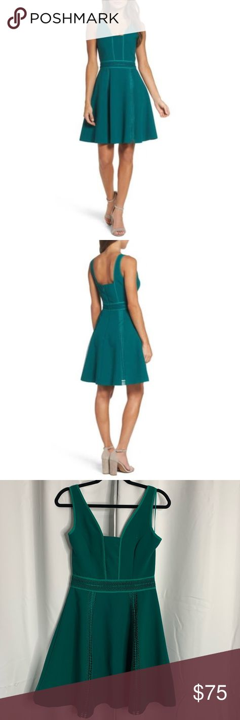 New Adelyn Rae Gayle Fit & Flare Dress teal S New with tags Adelyn Rae Dresses Mini