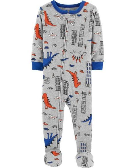 75a9be48ce21 Carter s Baby Boys Dinosaur-Print Footed Coverall - Green Newborn ...
