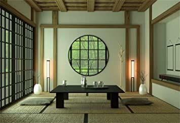 Laeacco 5x3ft Japanese Style Room Interior Vinyl Amazon Co Uk Camera Photo Room Design Room Japanese Room