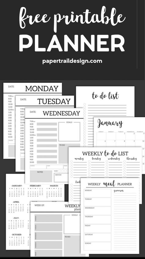 Monthly Planner Template {Printable Planner Pages}