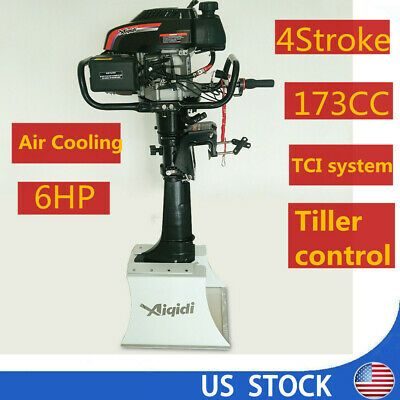 Advertisement Ebay 6 Hp 4 Stroke Outboard Motor Engine Fishing Boat Cdi Air Cooling System Us Stock In 2020 Air Cooling System Outboard Motors Fishing Boats