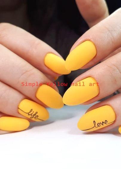 23 Great Yellow Nail Art Designs 2020 Yellownailart Nailarts In 2020 Yellow Nails Yellow Nails Design Neon Nail Art