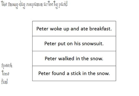 Speech Time Fun: The Snowy Day Companion Activity Pack!
