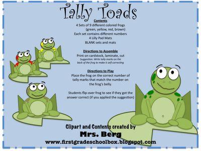 Tally Toads -- tally marks