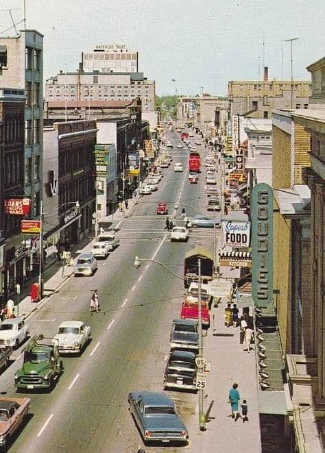 Downtown Kitchener 1960 Canada History Kitchener Ontario