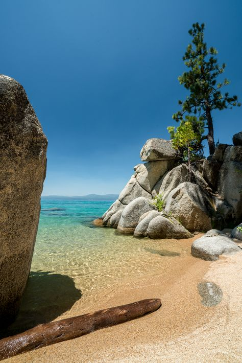 California/Nevada - Lake Tahoe — Explore More Nature Lake Tahoe Beach, Lake Tahoe Summer, Lake Tahoe Vacation, Lake Tahoe Nevada, Vacation Places, Vacation Spots, Places To Travel, Places To See, Hiking Places