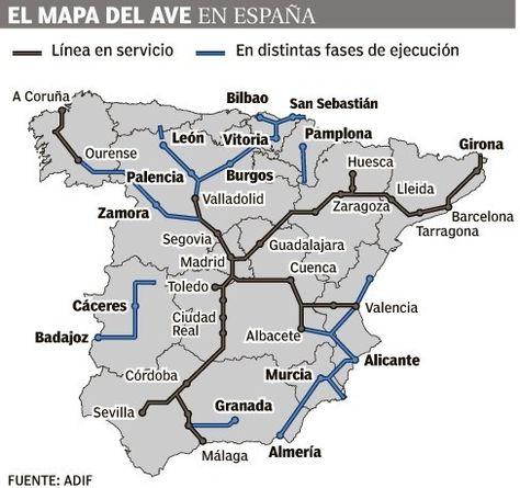La Rioja Y Cantabria Como Dos Islas En Las Lineas Del Ave