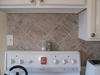 Kitchen Reno Part Iv Backsplash Faux Tiles Diy Backsplash