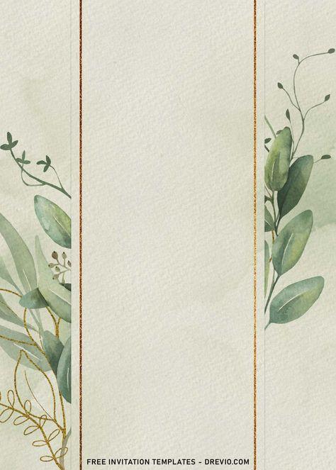9+ Greenery Gold Leaves Birthday Invitation Templates