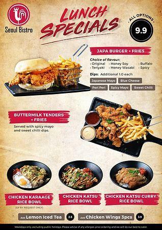 Seoul Bistro Fried Chicken Buffet Sunnybank Brisbane Restaurant Honey Soy Chicken Chicken Wings Spicy Fried Chicken