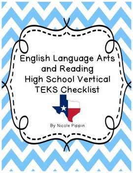 Language Art And Reading Vertical Tek Checklist High School Tpt Spanish Teks To Paraphrase I Quizlet Effectively A Message One Should Mean