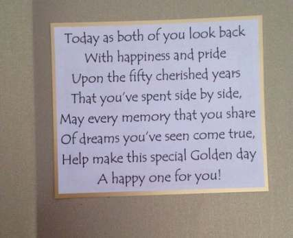 19 Trendy Wedding Quotes Congratulations Messages Cards Golden Wedding Anniversary Card Wedding Anniversary Cards 50th Anniversary Cards