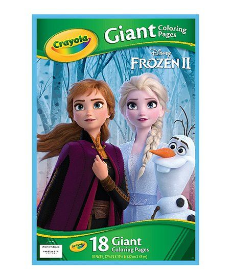 Crayola Frozen Giant Coloring Pages Book Zulily Crayola Disney Frozen Disney Frozen 2