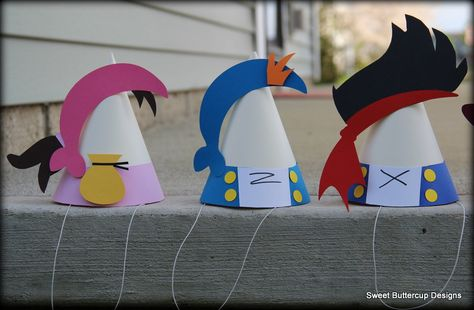 Jake and the Neverland Pirates Party Hats by SBCDesign on Etsy, $25.50