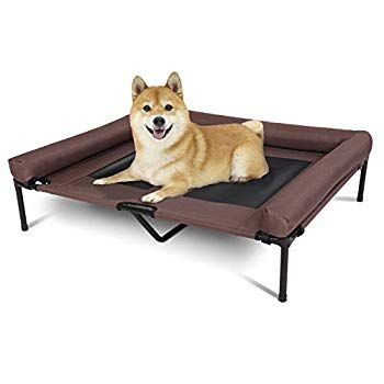 Kinbor Elevated Dog Bed Raised Pet Bed Dog Cot With Double Breathable Mesh Strong Frame Pet Bed With Strengthen Cente Elevated Dog Bed Raised Pet Bed Dog Cots