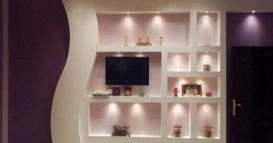 اشكال جبسيات تلفزيون حديثة New Design Gypsum For Tv قصر الديكور Ceiling Design Design Home Decor