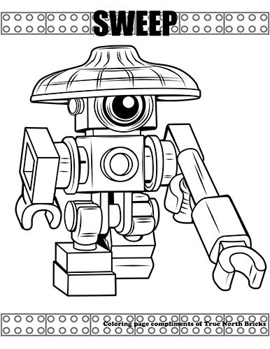Coloring Page Sweep Coloring Pages Lego Coloring Pages Lego