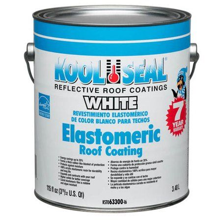 Kool Seal White Elastomeric Roof Coating 1 Gal Walmart Com Elastomeric Roof Coating Roof Coating Roof Paint