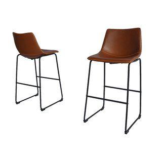 Miraculous Leather Bar Stools Youll Love Wayfair Bach Pad In 2019 Creativecarmelina Interior Chair Design Creativecarmelinacom