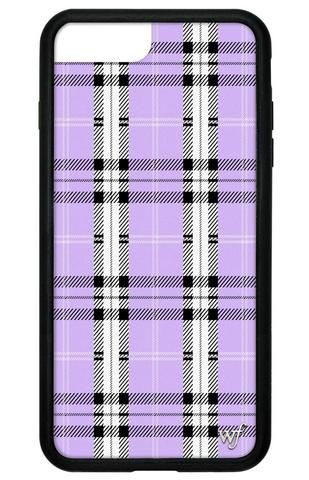 Lavender Plaid Iphone 6 7 8 Plus Case Wildflower Phone Cases