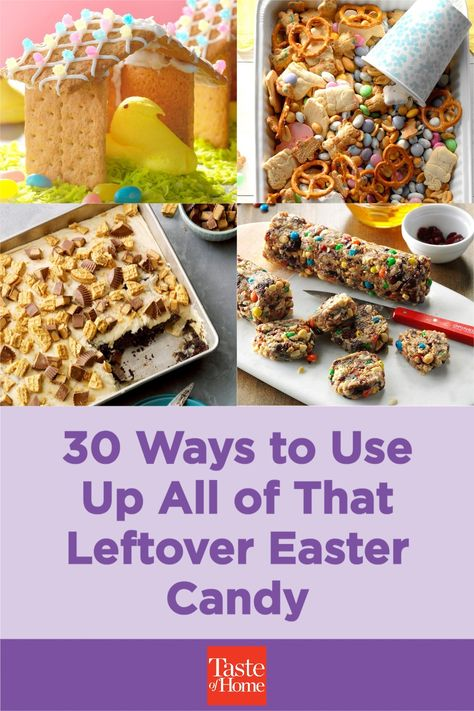 Did the bunny bring a few too many jelly beans, candy bars or marshmallow Peeps? Put 'em to work in these tasty dessert recipes.