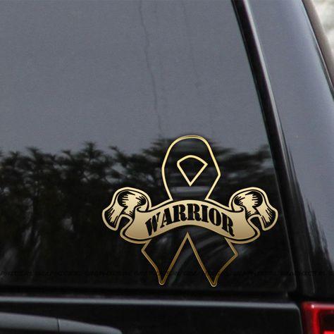 Cancer Survivor Butterfly Ribbon Car or Truck Window Laptop Decal Sticker