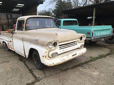 eBay: 1959 Chevy Chevrolet Apache fleetside pickup truck flathead V8