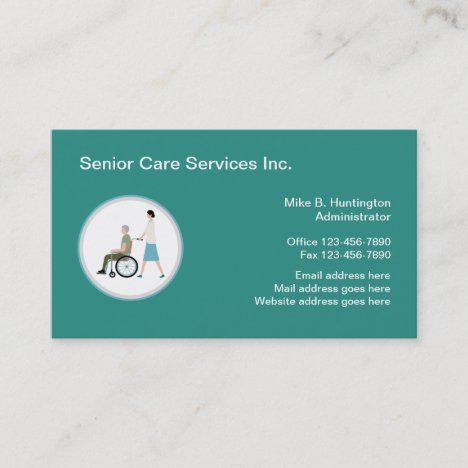 Senior Care Services Medical Logo Template Business Card Zazzle Com Senior Care Services Senior Care Medical Logo