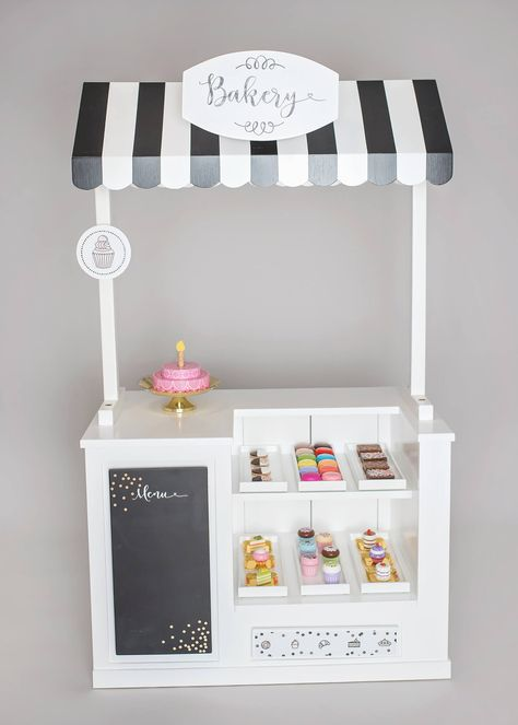 Bakery play stand interchangeable themes - styled by mama girl cupcakes, pl Cubby Houses, Play Houses, Toy Rooms, Cubbies, Kids Furniture, Diy For Kids, Kids Playing, Kids Toys, Creations