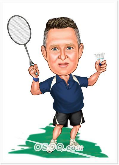 Badminton Caricature