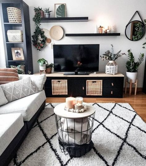 20 tips will help you improve the environment in your bedroom Living Room Decor Ikea, Cute Living Room, Boho Living Room, Living Room Decorations, Modern Small Living Room, Small Living Room Ideas With Tv, Small Space Living Room, Bedroom Decor, Living Room Inspiration