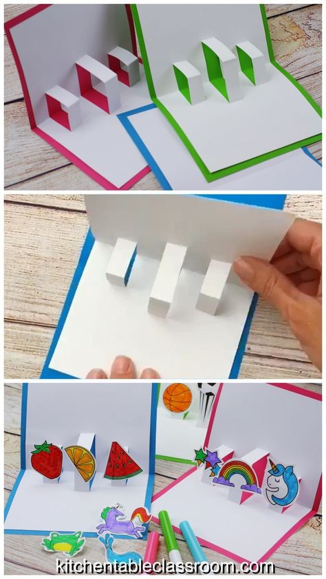 Learn how to make your own DIY pop up card for any occasion with these simple instructions, free template, and video lesson. #popup #homemadecards #easycrafts #papercrafts