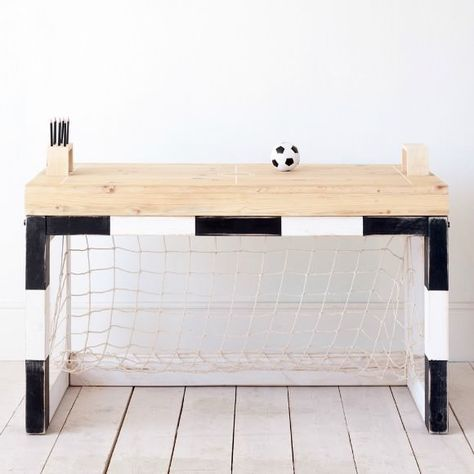 cute desk idea for young soccer fan..or sports themed room