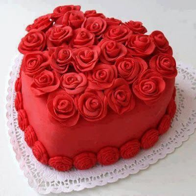 Heart Roses Cake Cake Decorating Valentines Day Cakes Cupcake Cakes