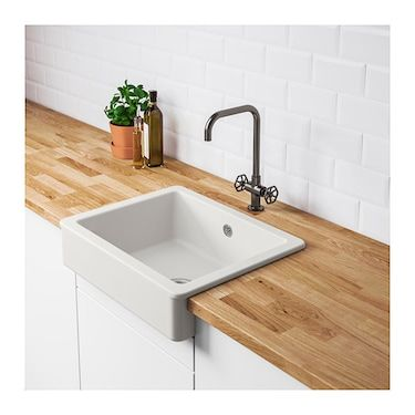 Ikea Havsen Sink Bowl W Visible Front Easy To Clean With Soft Rounded Corners Ikea Kitchen Sink Ceramic Kitchen Sinks Ikea Sinks
