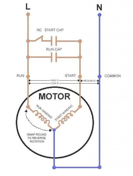 Ac Dual Capacitor Wiring Diagram Ac Capacitor Electrical Circuit Diagram Refrigerator Compressor