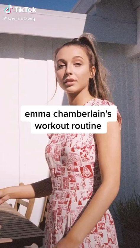 Emma Chamberlain's workout routine‼️