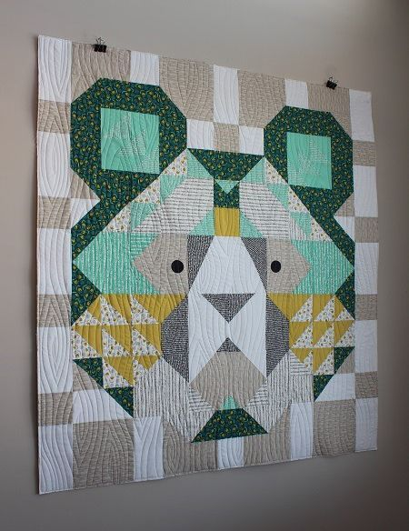 Big Sky Bear Quilt Free Pattern Boys Quilt Patterns Quilt Patterns Quilts