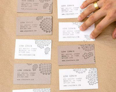 13 best handmade business cards images on pinterest business youll need a calling card so make it cool printing your own business cards is unexpectedly easy thanks to custom made stamps and reheart Choice Image