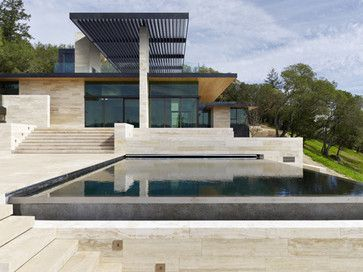 Napa Valley Modern Home Water Pinterest Modern Architecture