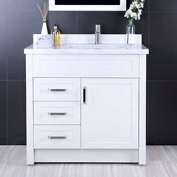 Afa 36 Stainless Steel Bathroom Vanity With Faucet Stainless