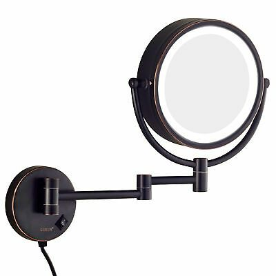 Advertisement Gurun 10x Magnifying Led Lighted Makeup Mirror Wall Mounted Oil Rubbed Bronze Wall Mounted Makeup Mirror Shaving Mirror Wall Mounted Mirror