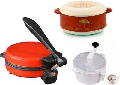 Eco Shopee Combo Of Eagle Red Detachable Roti Maker Casserole And