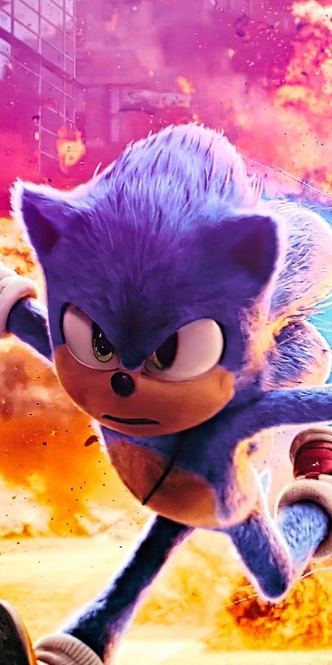 Movie, run, Sonic The Hedgehog, 2020, 1080x2160 wallpaper